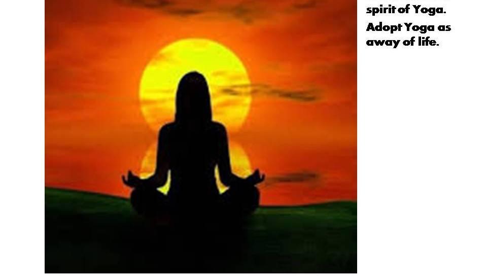 Adopt yoga
