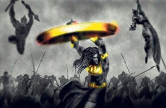Abhimanyu beheads Brihadbala
