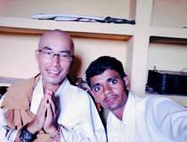 जापान देश से आए हुए बौद्ध भिक्षु कांशिन इकेडा जी
