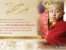Wishing H.E 9th Trulshik Adeu Rinpoche a very Happy Birthday