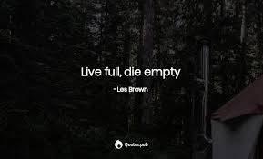 Let's Die Empty