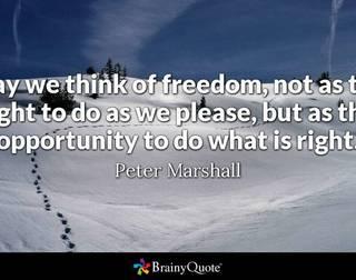 Break Free From 'Free'dom