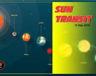 Sun Transit-15 May 2018