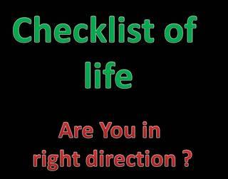 Checklist of life