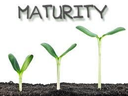 On maturity ...