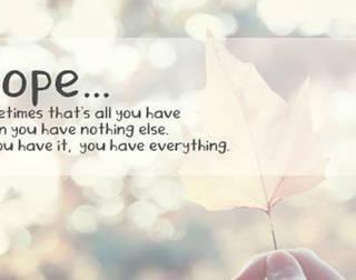 Being Hopeful