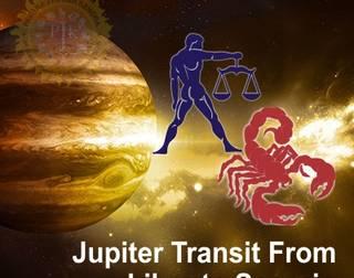 jupiter transists to scorpio on 11th Oct