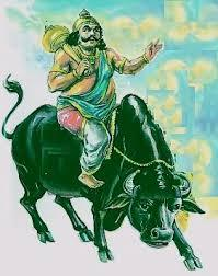 Why does Yamaraja ride the buffalo?