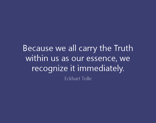 We All Carry The Truth Within ..