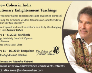 Be A Part Of Andrew Cohen Teachings in India