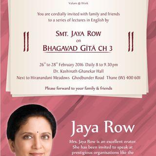 Bhagavad Gita Lectures in Thane