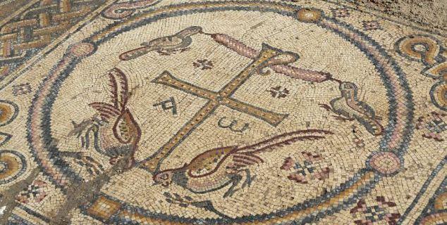 Mosaics showing animal, zebra, etc