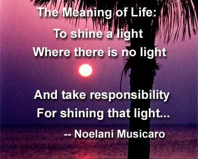 To shine a light