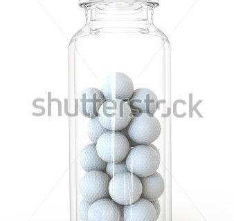 Jar with Golf balls
