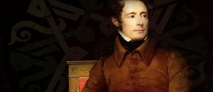 Lamartine. French writer, poet and politician