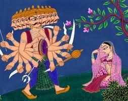 Ravana's  Immoral Advances