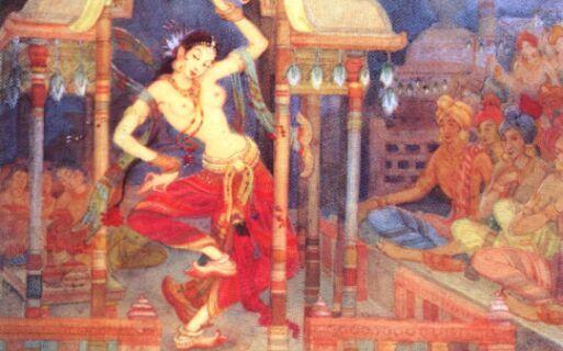 Amrapali,Monk and Buddha
