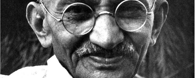 Gandhi ji means sacrifice !