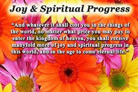 Progress in spirituality
