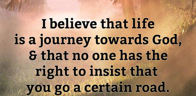 A journey towards god.