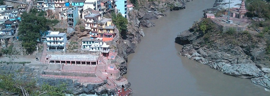 Meeting of rivers at Devprayag
