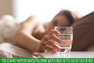 See what happens when you drink water on empty stomach, immediately after waking up